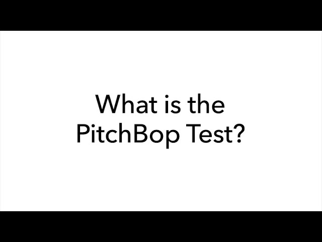 What is the PitchBop Test?