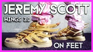 Jeremy Scott Wings 3 0 Gold On Feet Is Gold The Limit Youtube