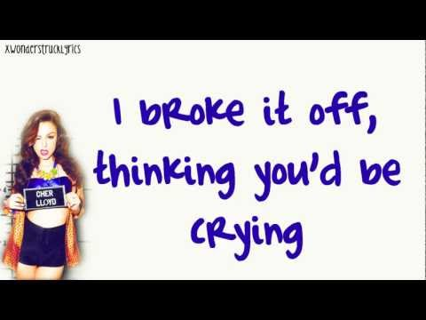 Want U Back (US Version) - Cher Lloyd - Lyrics On Screen