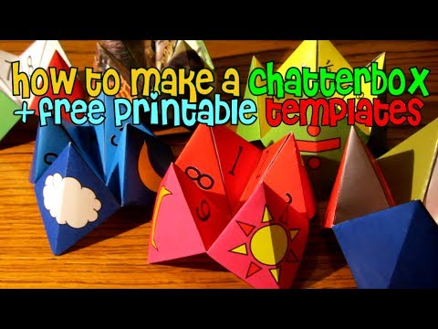 How to make a chatterbox fortune teller free printable for How to make a chatterbox template