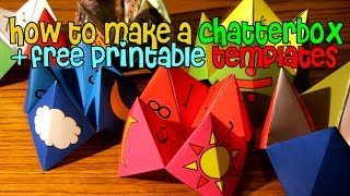 How To Make A Chatterbox/ Fortune Teller + Free Printable Templates