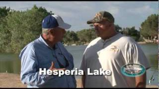 Fishing at Hesperia Lake, San Bernardino County, California