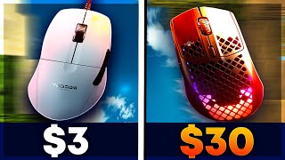 $3 Mouse VS $30 GAMING MOUSE..