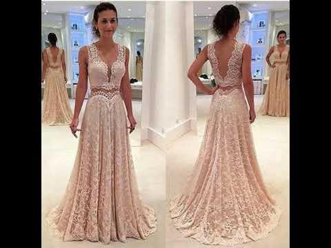 Hermosos Vestidos Color Rosa Palo Youtube