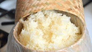 How to Cook Sticky Rice วิธีการหุงข้าวเหนียว