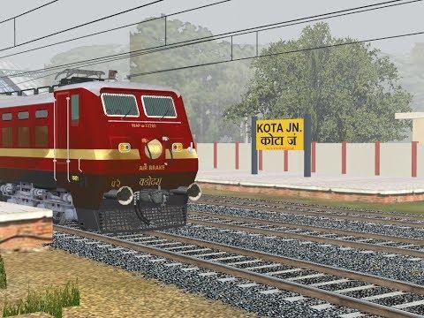12060/Delhi Hazrat Nizamuddin - Kota JanShatabdi Express Part 3    IR In MSTS Open Rail