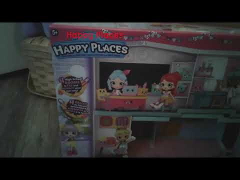 Happy Places happyville high set and a Chelsea cheeseburger three piece set