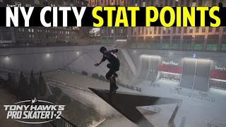 NY CITY: How to Collect 4 Stat Points | Tony Hawk's Pro Skater 1+2 (Stat Points Location)