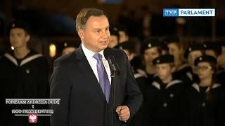 Wystąpienie Prezydenta Andrzeja Dudy w Strzyżowie