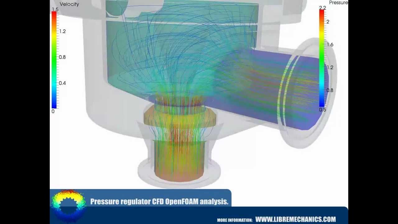 Pressure regulator CFD OpenFOAM analysis  | Libre Mechanics