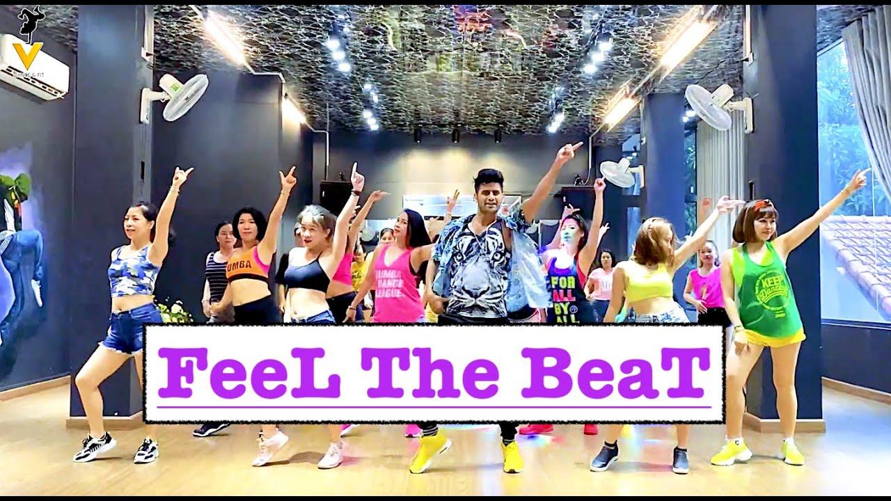 FEEL THE BEAT | Zumba Dance Workout | Black Eyed Peas, Maluma | Vishal Choreography | Easy Steps |