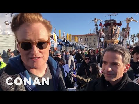 Behind The Scenes: Conan & Jordan Schlansky At Carnevale In Italy