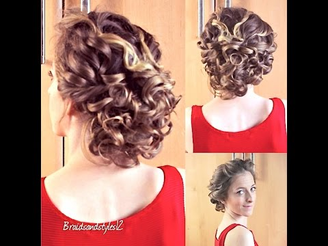 curly updo hair tutorial braidsandstyles12