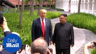Trump says summit going 'better than anybody expected' - Daily Mail