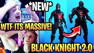 "Streamers react to *NEW* UPGRADED ""BLACK KNIGHT 2.0"" (ULTIMA) SKIN STYLE in Fortnite Season 10!"