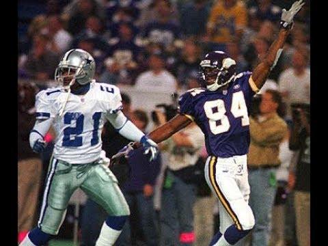 Vikings vs. Cowboys 1999 (week 9) (Deion Sanders vs Cris Carter) (pt. 1)