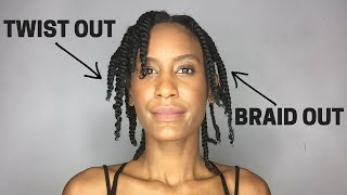 THE DIFFERENCE between a TWIST-OUT and a BRAID OUT