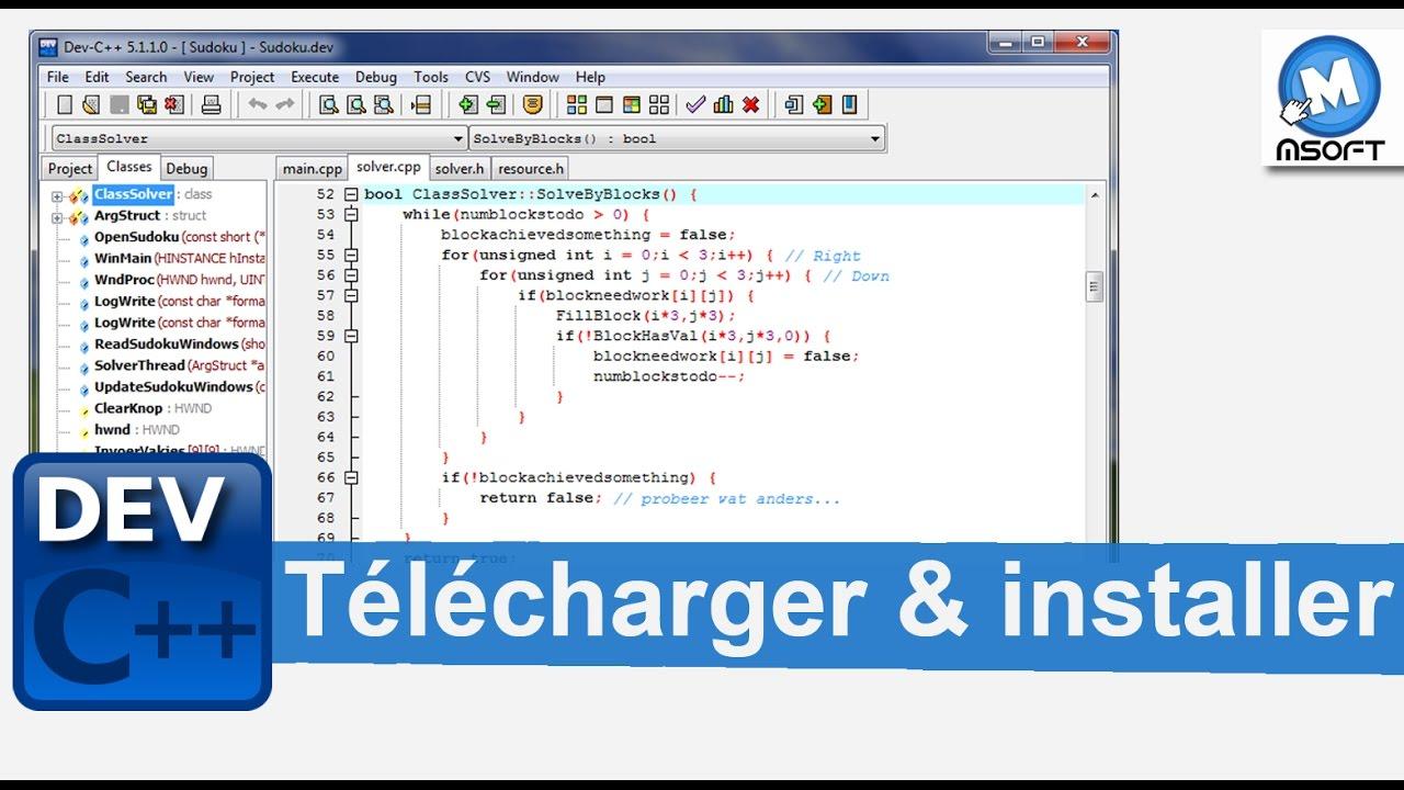 C++ TÉLÉCHARGER DEV