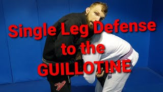 Single Leg Defense to the Guillotine! Toro BJJ Move of The Week