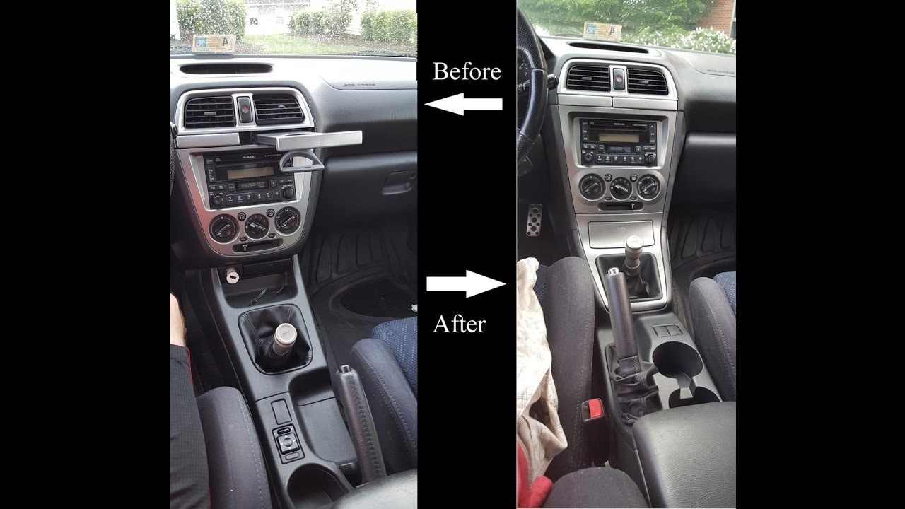 How To Swap 0204 WRX Center Console For 0507 WRX Center Console  YouTube