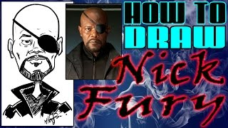 How To Draw A Quick Caricature The Avengers Nick Fury Samuel L Jackson