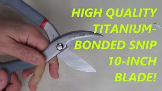 REVIEW Clauss 18477 Titanium-Bonded Tin Snip with 10-Inch Blade