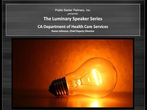 2Q15 Luminary Series - CA Department of Health Care Services