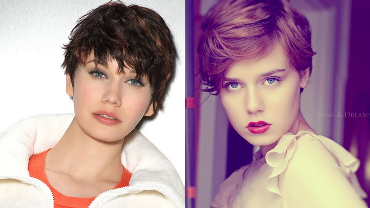 25 Short Hairstyles for Round Faces - YouTube