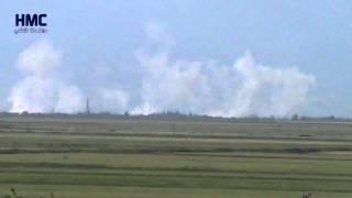 غارة جوية من الطيران الحربي على قرية الزيارة سهل الغاب 26 4 2015