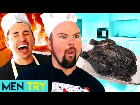 Men Try Gourmet Cooking - Easy Recipe For Cooking At Home or a Recipe FOR DISASTER?