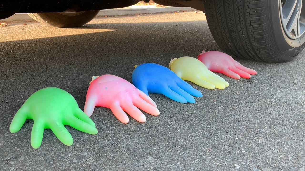 Experiment Car vs Jelly Gloves vs Balloons | Crushing Crunchy & Soft Things by Car | Car US