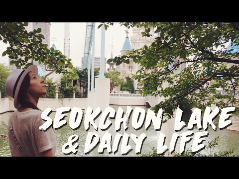 Seoul: Seokchon Lake by Lotte World & Daily Life 국제커플 규호와 세라의 일상과 함께 다녀온 잠실역 석촌호수 (자막 CC)