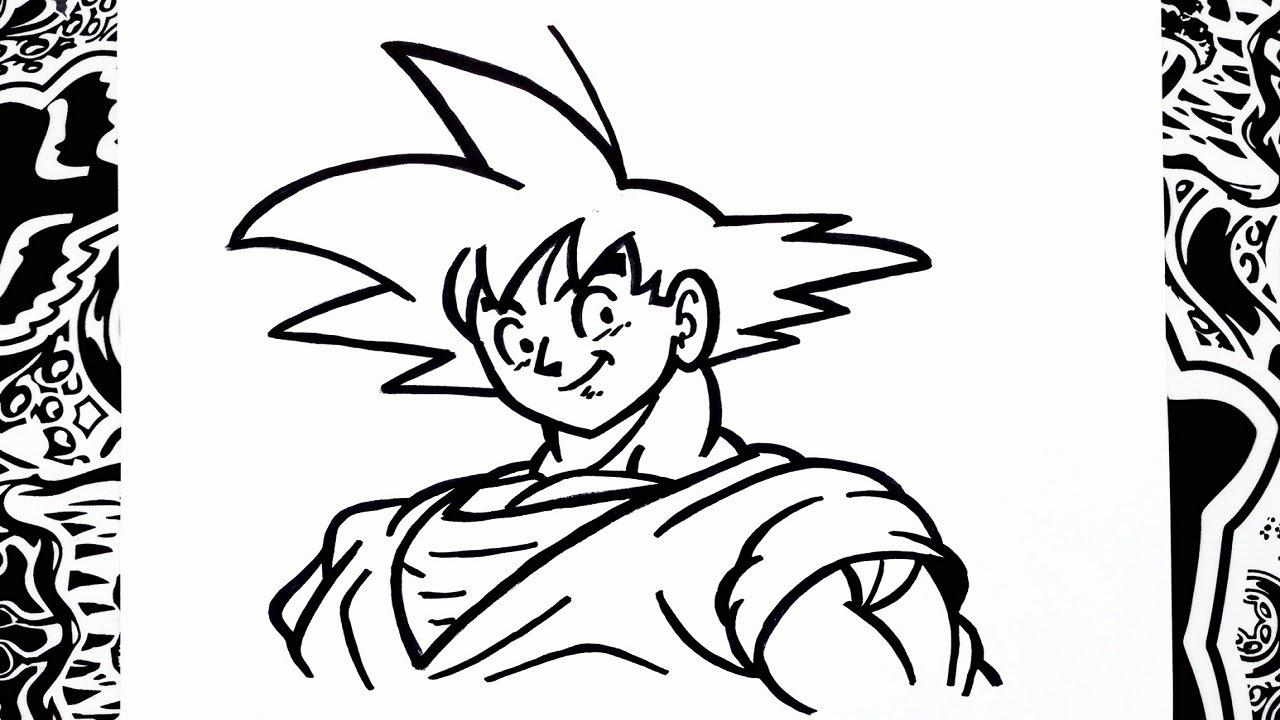 Como dibujar a goku paso a paso  how to draw goku  YouTube