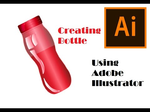 Creating a Water Bottle using adobe Illustrator | Beginners tutorial | Red water Bottle thumbnail