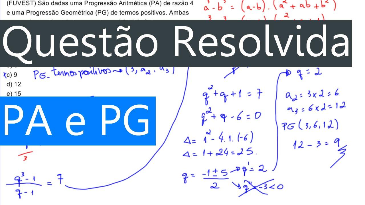 Progressão aritmética -termo geral | Cantos da Ciência