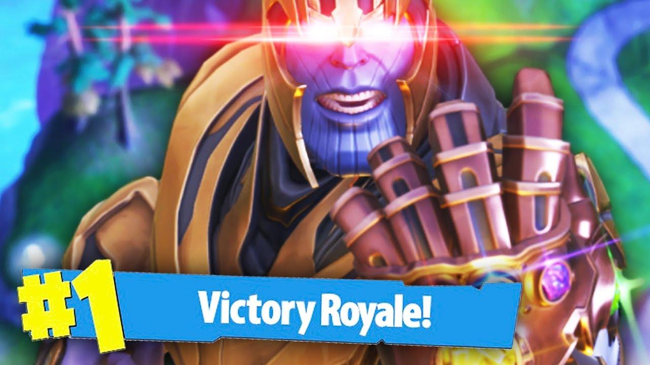 Winning As Thanos Fortnite Battle Royale Thanos Mode Youtube