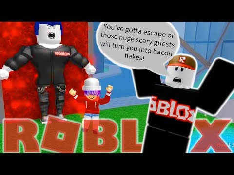 ESCAPE THE GUESTS OBBY IN ROBLOX! | RADIOJH GAMES