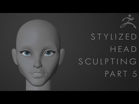 How to sculpt a stylized Mouth  Tutorial Part 5  Sculpting the Head
