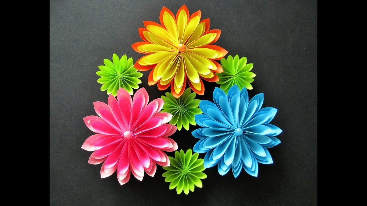 Diy Flowers From Paperblumen Aus Papier Origami Youtube