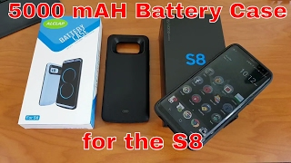 Samsung Galaxy S8 5000 mAH Battery Case - Need 150% more battery for your S8?