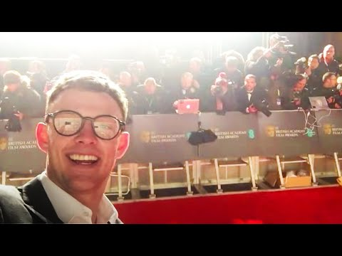 SNEAKING ONTO THE RED CARPET AT BAFTAS AS CELEBRITIES