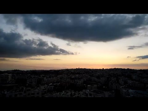 Amazing sunset in Amman ( Time Lapse )