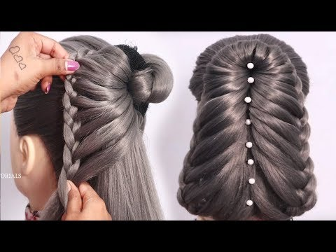 New wedding guest hairstyle with Donut || updo hairstyles || new hairstyle || juda hairstyle thumbnail