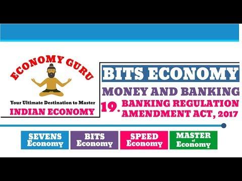 BANKING REGULATION AMENDMENT ACT, 2017 | BITS ECONOMY | MONEY AND BANKING | ECONOMY GURU | NEO IAS