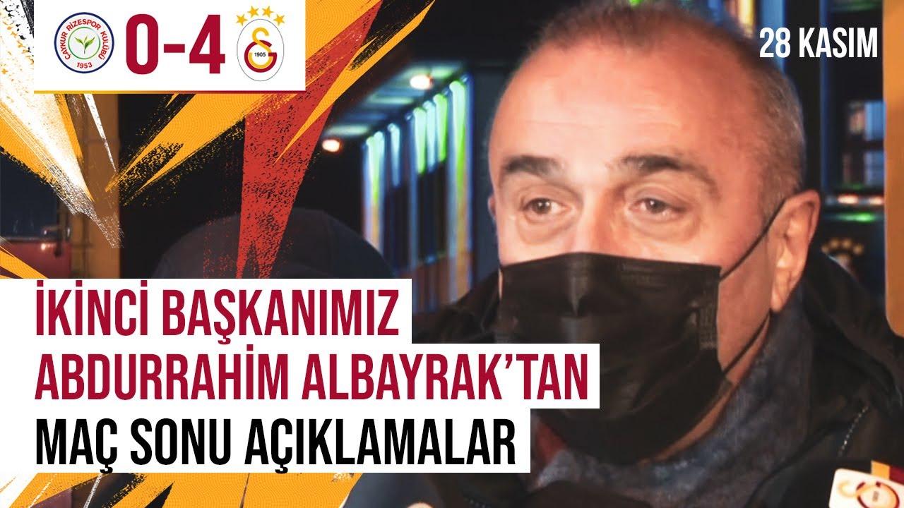 📺 İkinci başkanımız Abdurrahim Albayrak'tan karşılaşma sonrasında açıklamalar. #RİZvGS