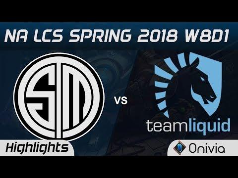 TSM vs TL Highlights NA LCS Spring 2018 W8D1 Team Solo Mid vs Team Liquid by Onivia