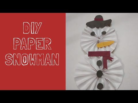 DIY Snowman With Paper || Winter Craft Ideas || Little Learners Corner