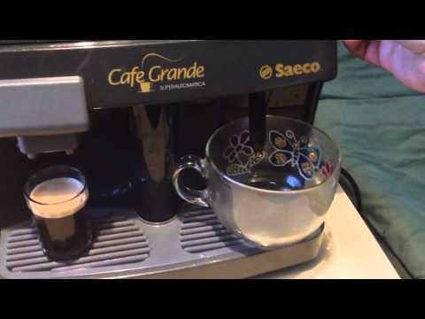 работа кофемашины Saeco Cafe Grande Superautomatica