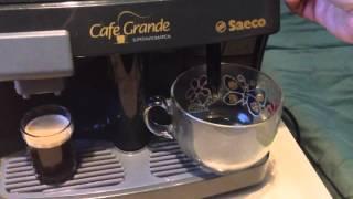 работа кофемашины Saeco Cafe Grande Superautomatica(, 2016-02-24T01:16:20.000Z)