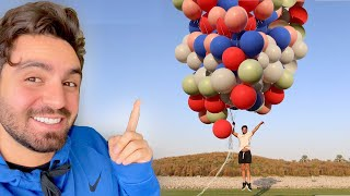 جربت اطير في بالونات الهيليوم !!🎈 😱